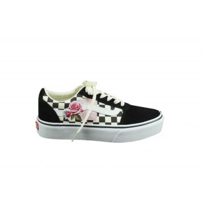 VANS DAMES SNEAKERS ZWART/WIT WM WARD PLATFORM