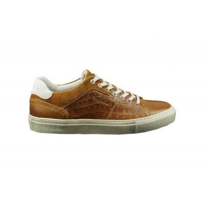Foto van AUSTRALIAN SHILTON PRINTED LEATHER TAN - SNEAKER
