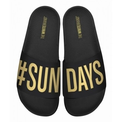 Foto van THE WHITE BRAND SUNDAYS BLACK - SLIPPER