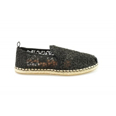 Foto van TOMS DECON. ALPARGATA ROPE BLACK LACE LEAVES - ESPRADILLE