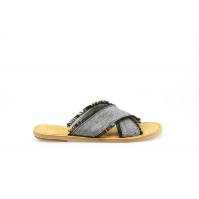 Foto van TOMS VIV BLACK CHAMBRAY - SLIPPER