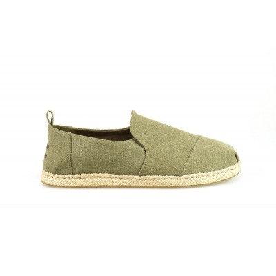 TOMS DECONSTRUCTED ALPARGATA ROPE OLIVE WASHED - ESPRADILLE