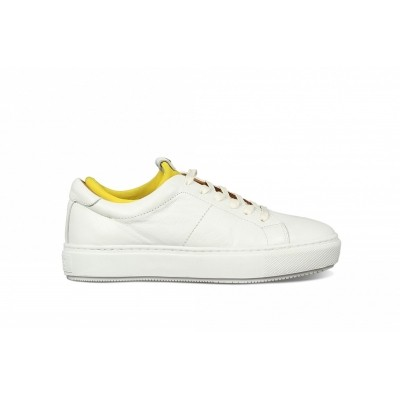 Foto van SHABBIES 101020012 WHITE MUSTARD YELLOW - SNEAKER