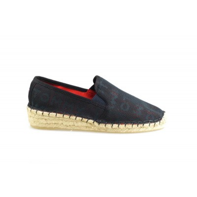 TOMMY HILFIGER DAMES ESPADRILLES DONKERBLAUW MESH SPORTY