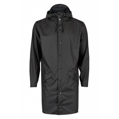 Foto van RAINS LONG JACKET BLACK - REGENJAS