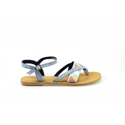Foto van TOMS LEXIE BLUE CHAMBRAY TRIBAL - SANDAAL
