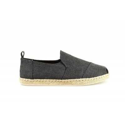 TOMS DECONSTRUCTED ALPARGATA ROPE BLACK WASHED - ESPRADILLE