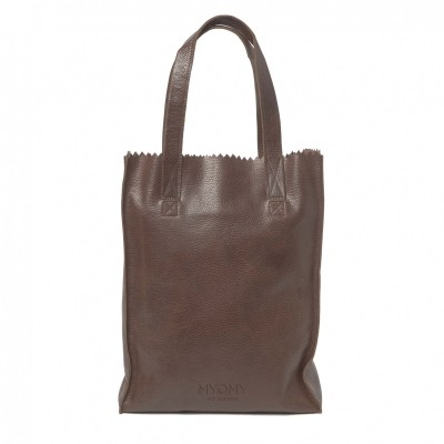 MYOMY MY PAPER BAG LONG HANDLE ZIP RAMBLER BRANDY - TAS