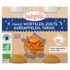 Afbeelding van Babybio Wortel & zoete aardappel tarwe 200 gram