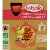 Afbeelding van Babybio Vruchtenmoes appel aardbei vanille 90 gram