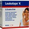 Afbeelding van Leukotape K 5 m x 2.5 cm huidkleur