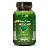 Irwin Naturals Living green liquid gel multi for men