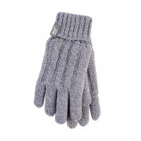 Heat Holders Ladies cable gloves S/M light grey