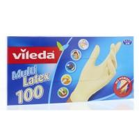 Vileda Wegwerphandschoenen multi latex s/m poedervrij