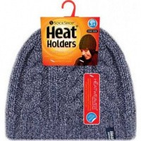 Heat Holders Ladies cable hat navy one zize