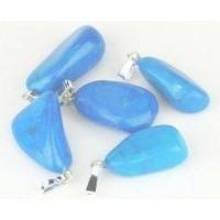 Steengoed Howliet blauw gekleurd hanger
