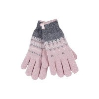 Heat Holders Ladies cable gloves S/M Trondheim coral