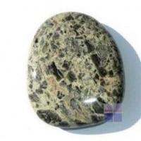 Steengoed Platte stenen jaspis zilverblad