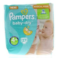 Pampers Baby dry maxi plus S4+