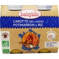 Babybio Wortel pompoen rijst 200 gram