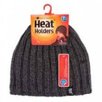 Heat Holders Mens hat one size charcoal