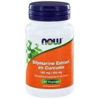 NOW Silymarine extract 150 mg en curcuma 350 mg