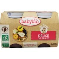 Babybio Dessert fruitlekkernij 130 gram