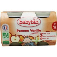 Babybio Dessert appel vanille 130 gram