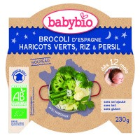 Babybio Mon petit plat broccoli princessenbonen rijst