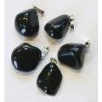 Steengoed Obsidiaan zwart hanger