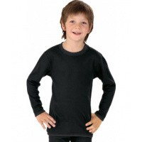 Best4body Verbandshirt kind zwart lange mouw 152