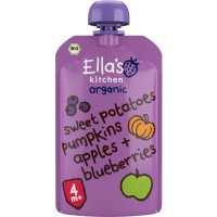 Ella's Kitchen Sweet potato pumpkin apple blueberrry 4+ maanden