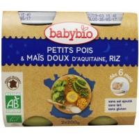 Babybio Groenten erwten mais rijst 200 gram