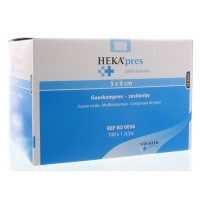 Hekapres Hydrofiel gaaskompres 5 x 9