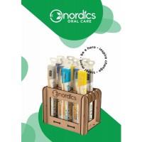Nordics Houten tandenborstel display 20 stuks