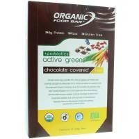 Organic Food Bar active green covered probiotica 68 gram