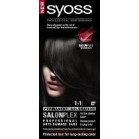 Syoss Color baseline 1-1 black haarverf