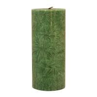 Kerzenfarm Kaars stomp donkergroen 135 x 64 stearine geurloos