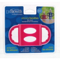 Dr Brown's Siliconen handvat voor standaard hals roze
