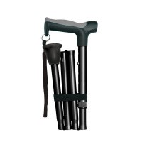 Hugo Opvouwbare wandelstok zwart