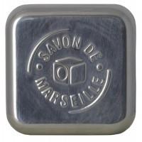 Aleppo Soap Co Zeepdoos aluminium leeg voor Marseille zeep