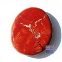 Steengoed Platte stenen jaspis rood
