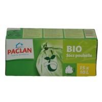 Paclan Huisvuil/afvalzak bio 10 liter