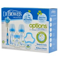 DR Brown's Giftset brede halsfles blauw