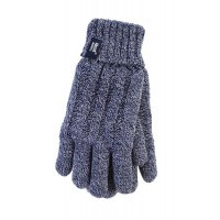Heat Holders Ladies cable gloves S/M navy