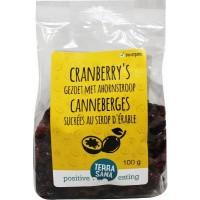 Terrasana Cranberry gedroogd ahornsiroop
