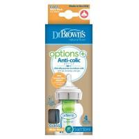 Dr Brown's Options+ brede halsfles glas 150 ml