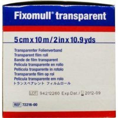 Fixomull Transparent 10 m x 5 cm 7221600