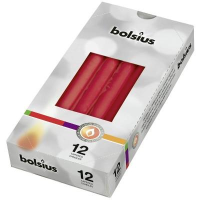 Bolsius Gotische kaars 245/24 rood