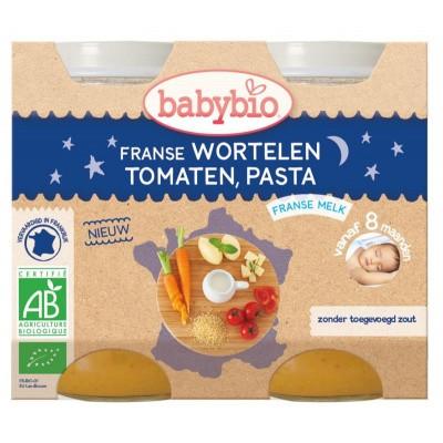 Babybio Wortel tomaat pasta 200 gram